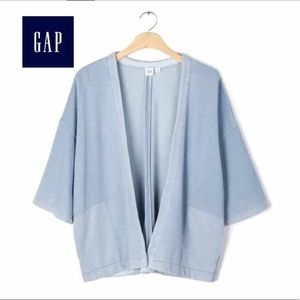 GAP Open Cardigan Oversized Blue